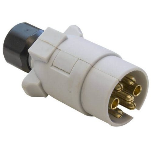 12v S type 7 Pin Grey Plug