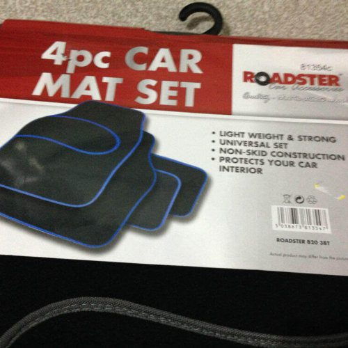 4pc Car Mat Set Grey