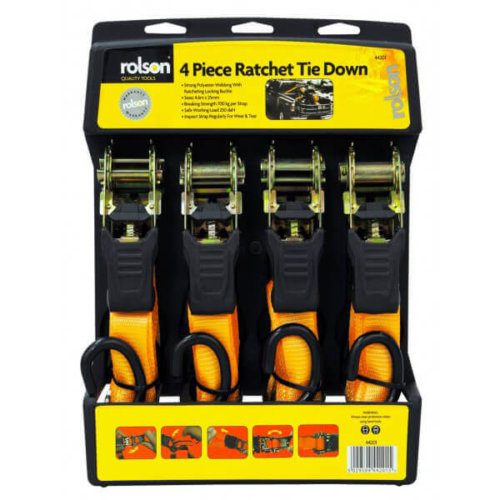 4pc Ratchet Tie Down Set