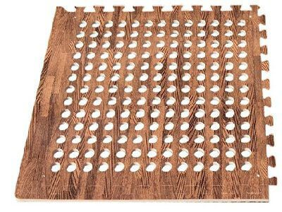 EVA floor Tile Wood Dark x4