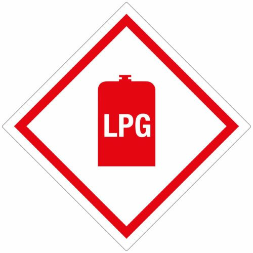 LPG Gas Sticker