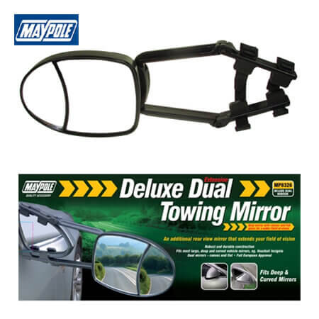 Maypole large dual towing mirror